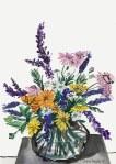 Original painting by Julia Raath of Autumnal flowers